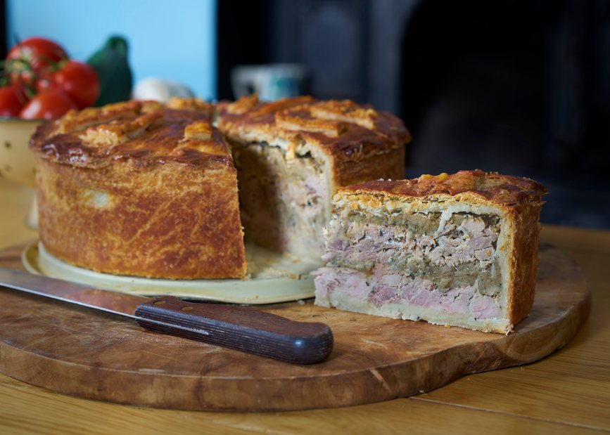 Mouth watering meat pie
