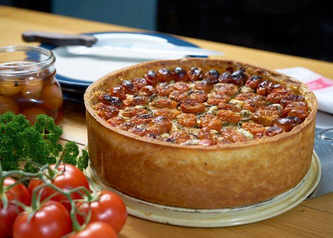 Tomato topped pie