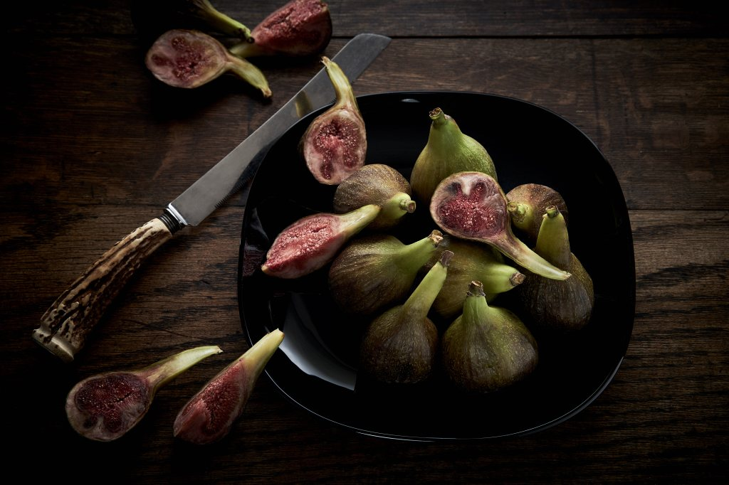 Fresh figs creatively styled