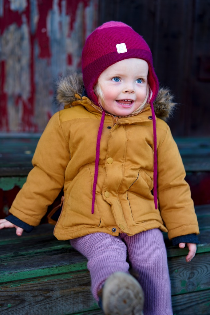 Portrait of a toddler outdoors