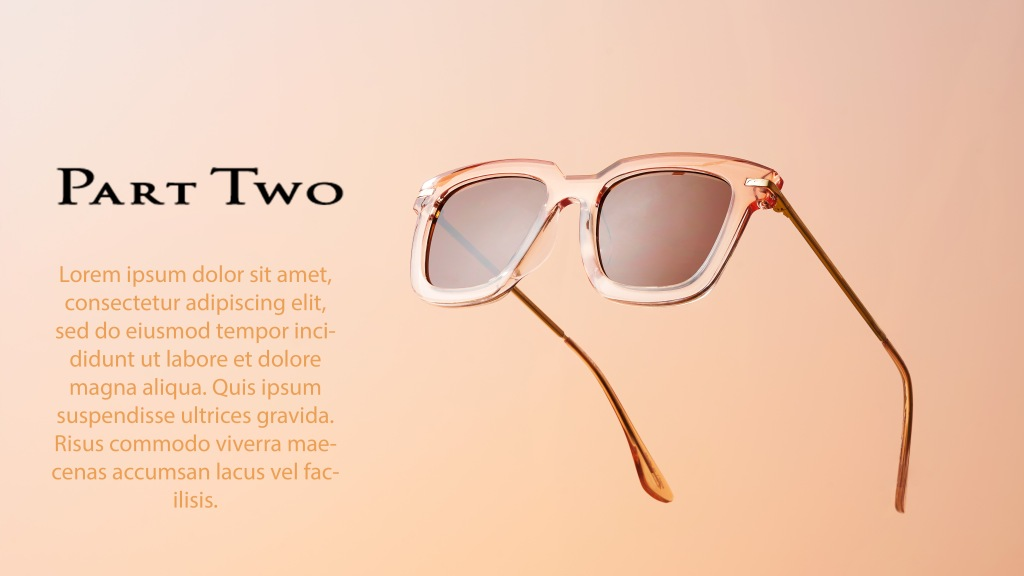 Sunglasses / solbriller with example text / product photography / produktbilder