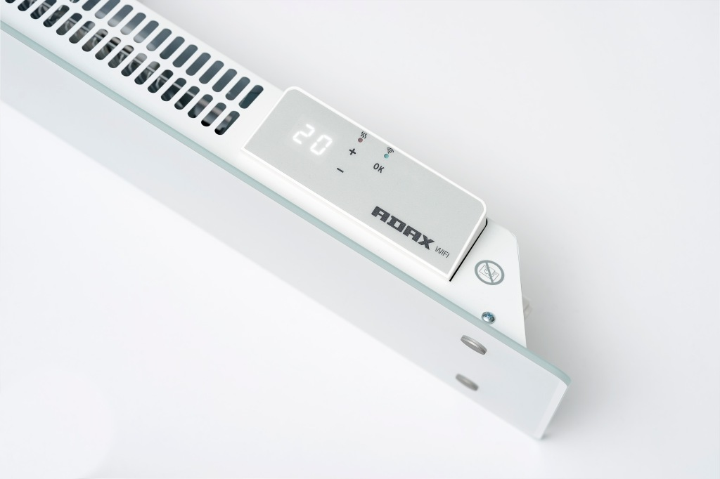 Technical product photography for catalogue of Adax electric wall heaters